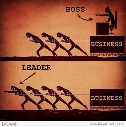 Being a Boss vs Being a Leader